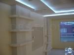 Фигуративен качен таван със скрито осветление от гипсокартон