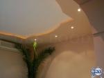 Фигуративен окачен таван със скрито осветление от гипсокартон