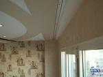 Окачен таван със скрито осветление и апликации
